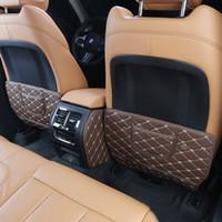 Leather 4adet Koltuk arkalığı Karşıtı Kick Pad Araba Karşıtı Kirli Mat İçin BMW X3 G01 G08 25i 30i 2018 Oto İç Donanım