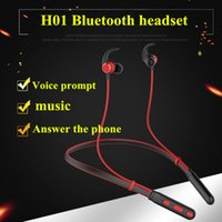 H01 Neckband Sport Bluetooth Headset stereo Magnet Wireless ...