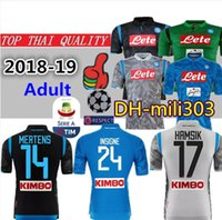 Top Thai quality 18 19 Napoli home soccer jersey 2018 2019 Naples HAMSIK  INSIGNE MERTENS Camisetas Away Third Camisas Maillot Football Shirt 631d83a17