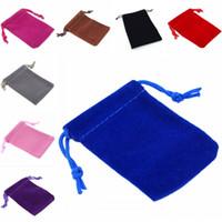 الجملة مزيج اللون رخيصة لينة المخملية الحقائب الرباط مجوهرات تغليف هدايا حقيبة التخزين العملية للمنزل