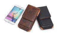 Lüks Evrensel Kılıf Kemer Klipsi Bel Adam Flip Deri kılıf Kapak kılıfı Çanta cep Telefonu Kılıfı Için iPhone 6 S 7 8 X Artı Samsung S8 S9 artı