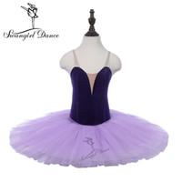 Próba baletu Tutu Purpurowe Dziewczyny Dziecko Praktyczne Kostiumy Taniec Leotards Tutu Performance Stage Ballerina Dress PPL18044B