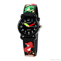 Детские часы 3D мультфильм динозавр прекрасные дети девочки мальчики дети студенты Кварцевые наручные часы очень популярные наручные часы спортивные часы