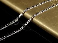 Fine 925 Sterling Silver Colar 4mm 16-30inch Classic Figaro Corrim Chain Link, 2018 Fine 925 Prata Shake Cadeia Colar Novo Estilo Sn102