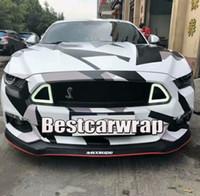 Grand Pixel Camo Wrap Wrap Full Car Wrap Acrtic Noir Blanc Gris Camo style avec air libre taille 1,52 x 30m / Rouleau 5x98ft