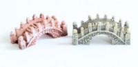 1000 pcs resina mini ponte paisagem em miniatura jardim de fadas musgo terrário ferramenta de decoração jardim artesanato DHL grátis frete