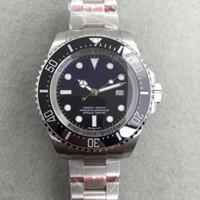 Знаменитые моды Брандригинальные сапфировые наручные часы Базель Красный морской обитатель из нержавеющей стали 44 мм часы 126600 Автоматическое движение часы