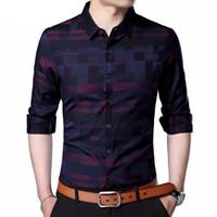 Coodrony xadrez homens s camisa dos homens de negócios casuais camisas de vestido dos homens famosos marca clothing xadrez camisa de manga longa masculina