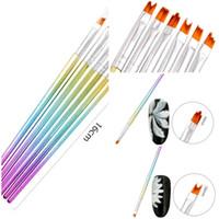 6PCS Set Gradient Color Nail Brushes Set DIY Flower Painting Drawing Liner Pen Manicure Nail Art Tool Kit