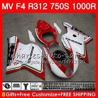 Corpo para MV Agusta F4 R312 750 1000 R 750 1000CC 05 06 102HM10 750 S 1000R 312 1078 1 + 1 Ma MV F4 2005 2006 05 06 Fairing Hot Sale Kit branco