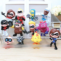 The Incredibles cartoon Action Figures 2018 new PVC Model To...
