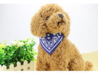 Nouveau style Collier réglable Chien Chat Bandana Foulard Foulard Marque New Mix Couleurs 31 * chien animal 1cm chat PU colliers dossard chiot