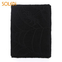 Black Lace Tablecloth Christmas Party Supplies Practical Hal...