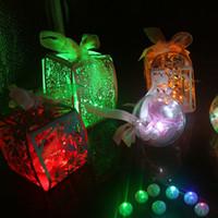 50 Pcs / lot Boule ronde Led Ballon Lumières Mini Flash Lampes pour lanternes Noël Décoration de fête de mariage blanc, jaune, rose