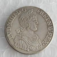 FRANKRIKE LOUIS XIV -1'Ecu 1644 Kopia Mynt Brass Craft Ornaments Replica Coins Hem Dekoration Tillbehör