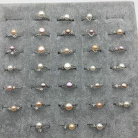 Großhandelsschmucksachen Frischwasser kultivierte Mischungsfarben bördelt justierbaren Ring der Perlen 8-9mm