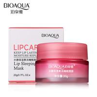 DHL-freie Bioaqua-Marke Erdbeerlippe Schlafmaske Hautpflege-Epferöffnungen-Lippen Balsam Feuchtigkeitsspendende Norish Lip Plumper Hydrathering Creme 20g
