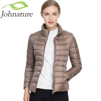 Johnature 2018 New Women Coat Autumn Winter 90% White Duck D...