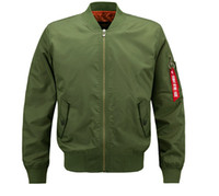 Mens Solid Color Pilot Flight Jacket Streetwear Fashion Base...