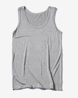 Yeni Giyim Rahat Jile Erkek O-Boyun Tank Tops Yaz Erkek Vücut Kolsuz Yelek Gymclothing Spor Erkek Gömlek 6XL Toptan