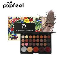 Popfeel 29 Colours Eyeshadow Palette Matte Shimmer Glitter Nude Pigmented Metallic Finish Eye Shadow Bling Eyeshadow