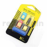 5 1 metal Nano SIM Kart / iPhone 4 Çıkar Pin ile tüm cellpone için Mikro SIM Kart / Standard sim Dönüştürücü Adaptör Adaptör
