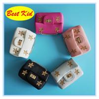 BestKid DHL Livraison gratuite! Sacs à bandoulière scintillants de la mode pour enfants Kids Small Messenger sacs Bébé enfants Star sacs Toddlers Mini bourse BK002