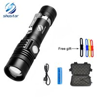 Shustar XML- T6 LED Flashlight Torch 3800Lumens zoomable led ...