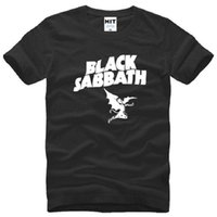 Black Sabbath Printed T Shirts Hombres Summer Style manga corta O-Neck Cotton camiseta de hombre Classic Heavy Metal Rock Mens Top Tees