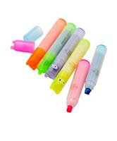 Coniglio Mini Highlighter Pen Marker Penne Kawaii Materiale di cancelleria Escolar Papelaria Materiale scolastico di scrittura spedizione gratuita 2018 nuovo