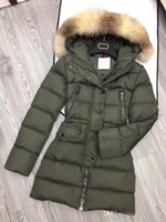 M Brand Winter women down jacket 100% Real Large Raccoon Fur...