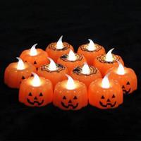 Klasik Mum Fener Kabak Tasarım Küçük LED Dayanıklı Kapalı Mum Lamba Mum Fener Cadılar Bayramı Partisi Dekorasyon Sıcak Satış GA388