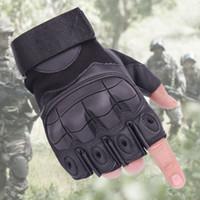 1 paio Sport ciclismo fitness Mezza Finger Gloves uomo outdoor tattico fan traspirante anti-skid indossare guanti