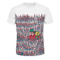 Женские мужские крошечные люди печатных уличные повседневные тройники с короткими рукавами 3D цифровые печатные футболки с круглым вырезом