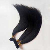 Europeu Humano Trama Do Cabelo Em Linha Reta cor natural fictile Elegante senhora sexy extensões de cabelo 8-26 polegada 100gNo de fibra, não sintético, melhor qualidade