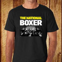 New The National Band *Boxer Rock Band Men' s Black T- Sh...