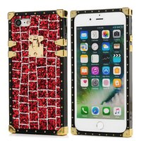 Luxury Plaid Glitter Bling Plating Soft TPU Phone Case For i...