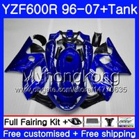 Karosserie + Tank für YAMAHA YZF600R Thundercat 02 03 04 05 06 07 229HM.31 YZF 600R YZF-600R 2002 2003 2004 2005 2006 Verkleidung Stock blauer Rahmen