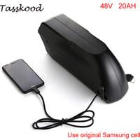 Samsung hücre için şarj cihazı ile 48v Bafang / 8fun 750W / 1000W orta / merkez tahrik motoru için elektrikli bisiklet 48v 20ah TigerShark pil