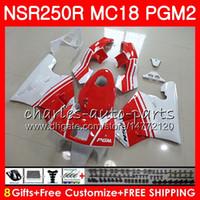 Honda NSR 250 R MC18 PGM2 NSR 250R NS250 NSR250R 88 89 78HM.23 MC16 NSR250 R RR NSR250RR 1988 1989 88 89フェアリングキット光沢白
