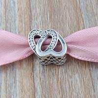 Autentyczne 925 Sterling Silver Beads Utwana miłość Charm pasuje do European Pandora Styl Bransoletki Biżuteria Naszyjnik 791880CZ