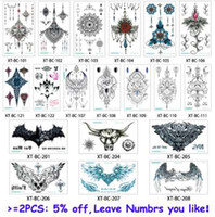 glaryyears 19 disegni 1 foglio 13.8 * 24 cm petto sterno tatuaggio temporaneo XT-BC grande body art sticker pendente gioielli moda tatuaggio