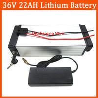 Высокое качество 1000W 36V 22ah Electric Bike Bike Bike Lithium задняя стойка аккумулятор использует ячейку 2200 мАч с 30A BMS и 42V 2A зарядное устройство