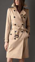 Frühling Herbst Casual Trench Mantel für Frauen plus Größe Lange Doppelbrühe Slim Windjacke Oberbekleidung Elegante Übermackungen
