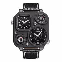OULM Marchio di moda al quarzo con più fuso orario Compass Thermmeter, alta qualità e nuovo stile orologio regalo per i vostri uomini, padre