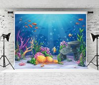 Мечта 7x5ft синий подводный мир фон Детская летняя тематическая вечеринка Potography фоне морских растений студийные фоны детские фото опора
