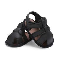 بيبي بوي أحذية الوليد الأحذية السوداء رمادي الذكور الطفل أحذية الصيف طفل أول ووكر بو الجلود الرضع prewalker