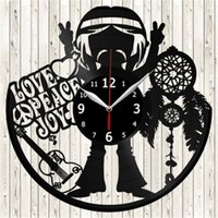 Love Peace Vinyl Record Orologio da parete creativo Home Decor Fashion Room Decoration Wall Art Clock (Dimensioni: 12 pollici, Colore: Nero)