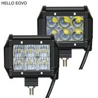 HALLO EOVO 2 stücke 4 Zoll 4D 5D LED Arbeitslichtleiste für Motorrad Fahren Offroad Boot Auto Traktor LKW 4x4 SUV ATV 12 V