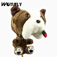 WOTUFLY Golf Driver Cabeça Animal Tampa Bulldog Pelúcia Headcover Golf Driver Tampa Clubes